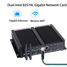 Fanless Industrial PC,Mini Computer,Windows 10,Intel Celeron 2955U,[HUNSN MA05I],(Dual WiFi/2HD/4USB2.0/4USB3.0/2LAN/6COM)