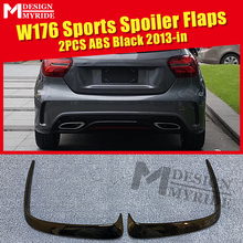 2 Pcs ABS Rear Bumper Canard Vent Rafts Splitter Fit For Mercedes Benz W176 A180 A200 A250 A45 Lip Splitters 2013-in