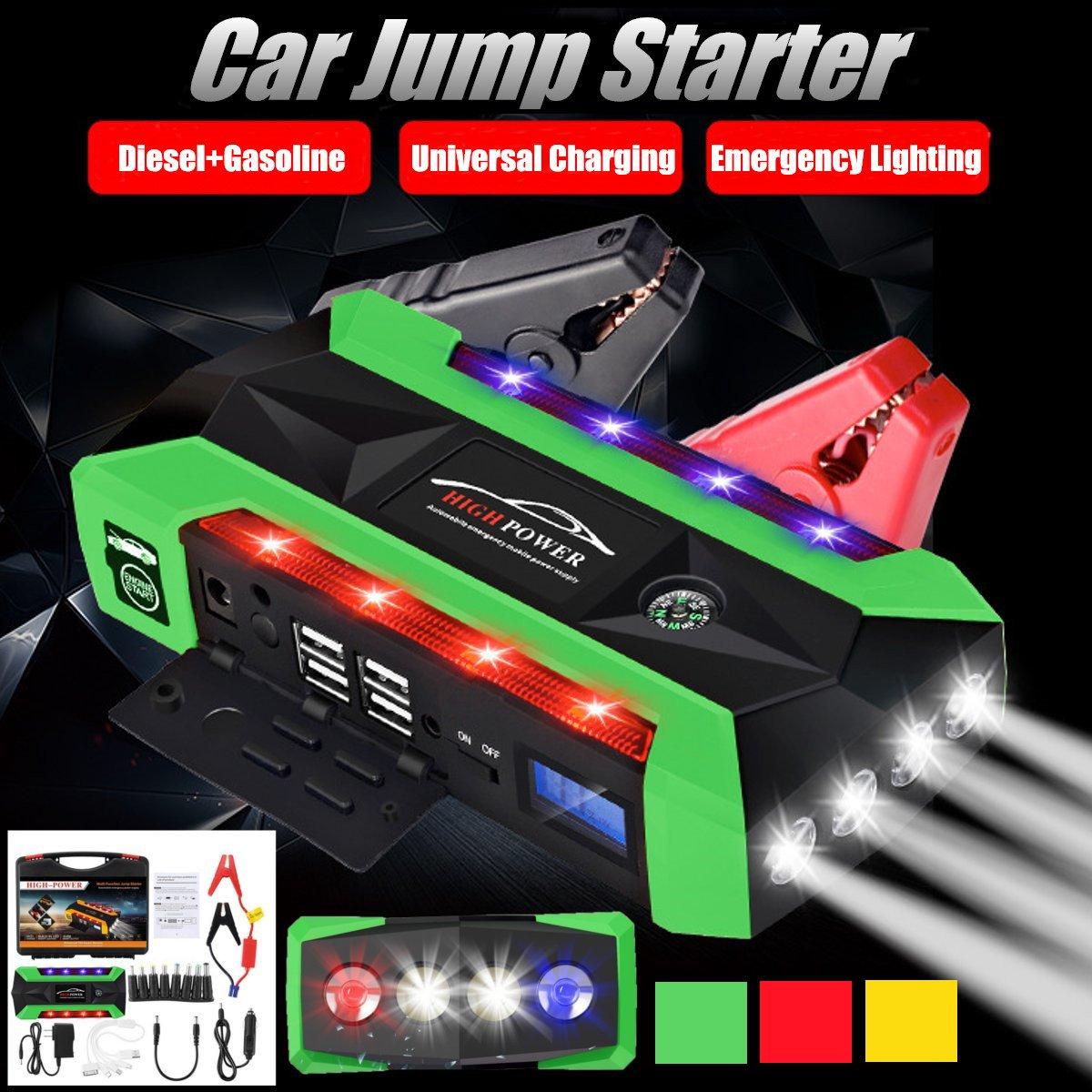 Démarreur de voiture de secours 89800 mAh 4USB batterie externe 12 V Portable démarreur de voiture de démarrage pour chargeur de batterie de voiture