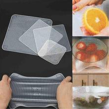 Set of Transparent Silicone Food Wraps