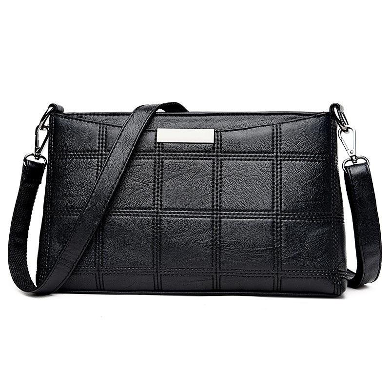 Ladies Handbags Messenger-Bags Crossbody Leather Female Genuine-Leather Women Casual