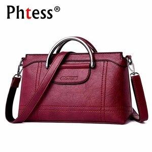 Image 1 - Женская сумка мессенджер 2019, Женская Ручная сумка, женские кожаные сумки, Высококачественная Дорожная сумка на плечо, женская сумка