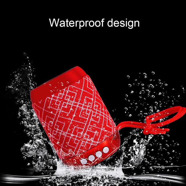Mini Black Red Blue V4.2 Bluetooth Speaker Wireless Subwoofer Loudspeaker LED TF USB mp3 stereo audio music player