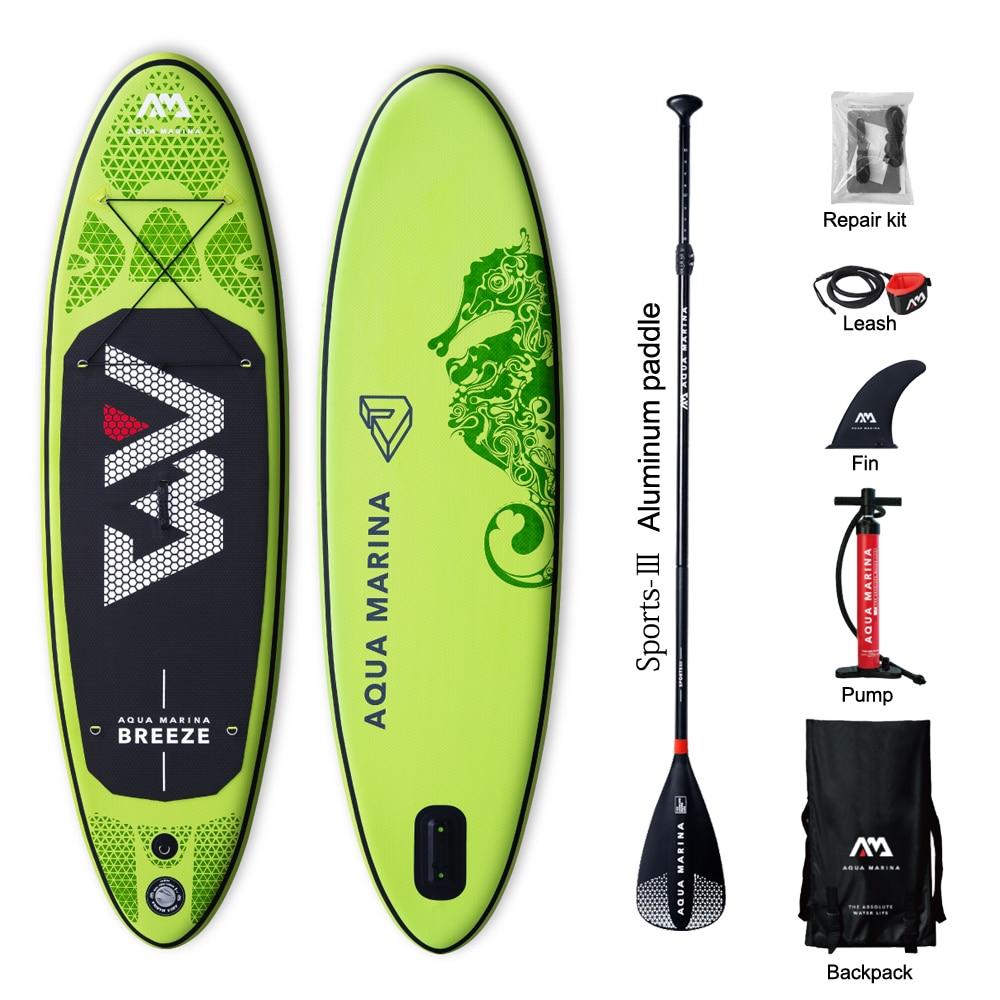 Aqua marina Breeze 10feet inflatable SUP Stand up Paddle Board inflatable paddle board surf board drop stitch inflatable stand up paddle boards inflatable surfing board