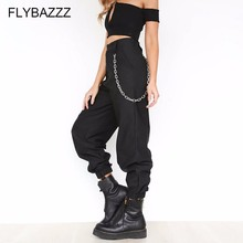 2019 Chain Pocket Hip-hop Pants Female Wide Leg Leisure Fitness Streetwear Women Trousers Running Sports 5 Colors