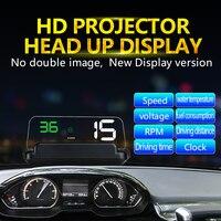 KUNFINE Car HUB OBD Car Speed Projector Hud Head Up Display Digital Speedometer OBD2 Diagnostic Tool 3 Color Universal C500