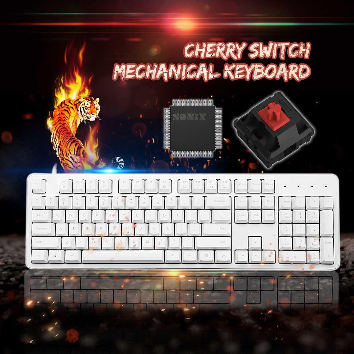 XiaoMi Yuemi MK06C Original 104Keys NKRO Cherry Red Switch Mechanical Keyboard PBT Keycaps for Windows/ For mac os