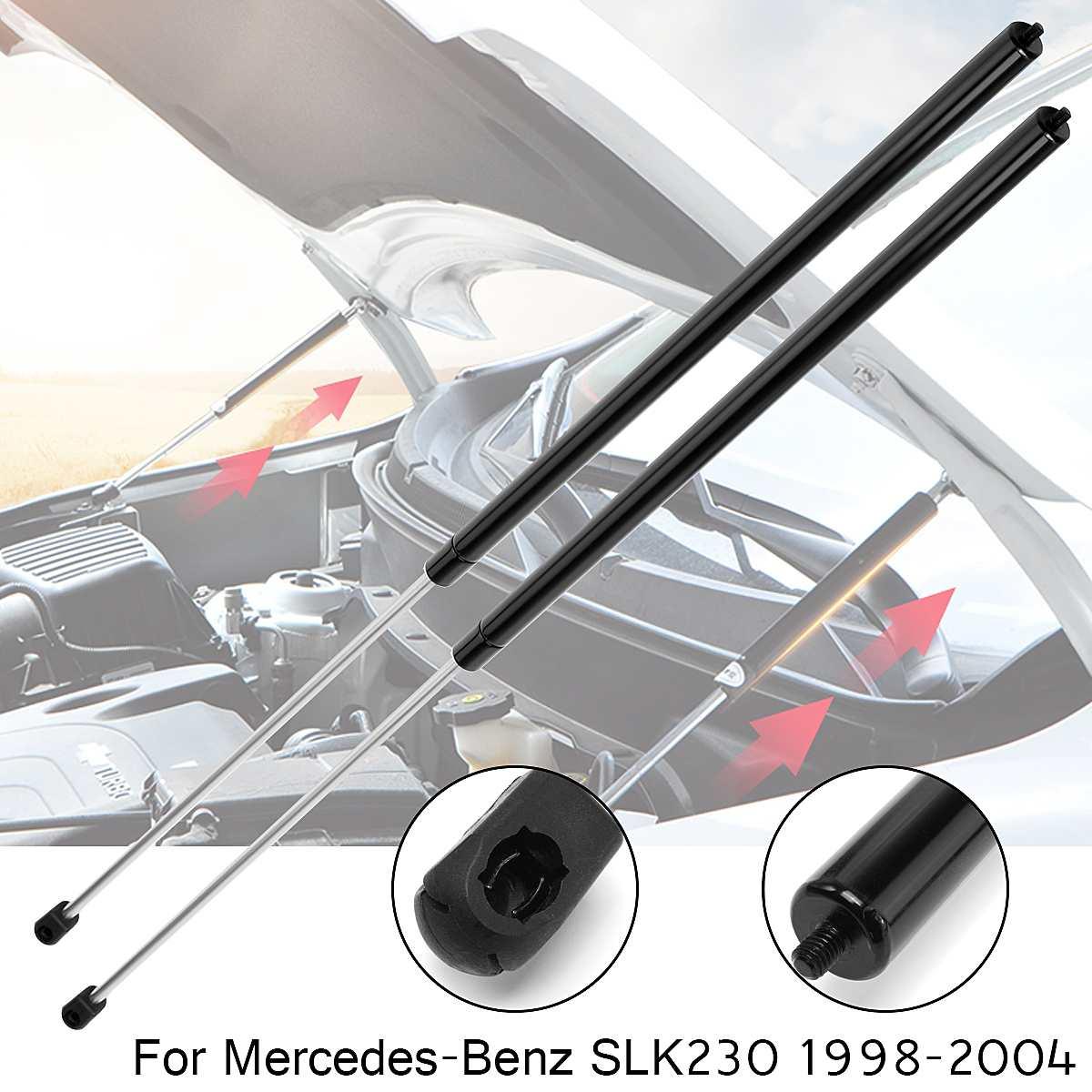 2pcs Car Hood Shock Strut Damper Lift Support Insert Black
