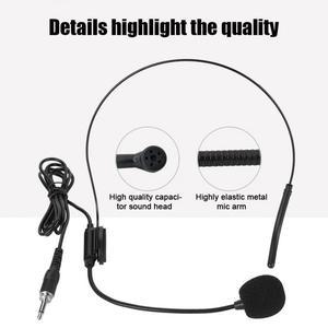 Image 3 - مايكروفون Sem Fio قناتين ميكروفون UHF لاسلكي محمول مثبت على الرأس مع جهاز استقبال وجهاز إرسال محمول