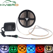 LED Ribbon Strip 3528 2835 SMD 5m 60LEDs/m Single Color IP20 IP65 Waterproof Flexible lamp + 12V 2A Power + Connect Female set