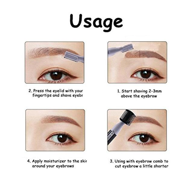 XY Fancy Women Portable Electric Facial Trimmer Shaver Eyebrow Shaper Pen Hair Remover 4