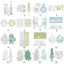 Christmas Dies Metal Cutting Dies Stencils for Scrapbooking Embossing Dies Cut Photo Album Card Xmas Gift DIY Making Graft Dies(China)