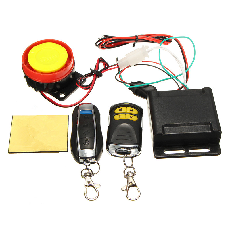 Universal Motorcycle Bike Alarm System Scooter Anti-theft Security Alarm Moto Remote Control Engine Start + Alarme Moto Speaker
