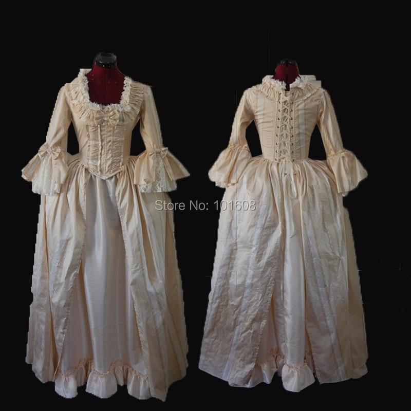 Custom-made!Elegant 17th Duchess Princess Reenactment Theatre 18th Court Belle Marie Antoinette DRESS Victorian dresses HL-358