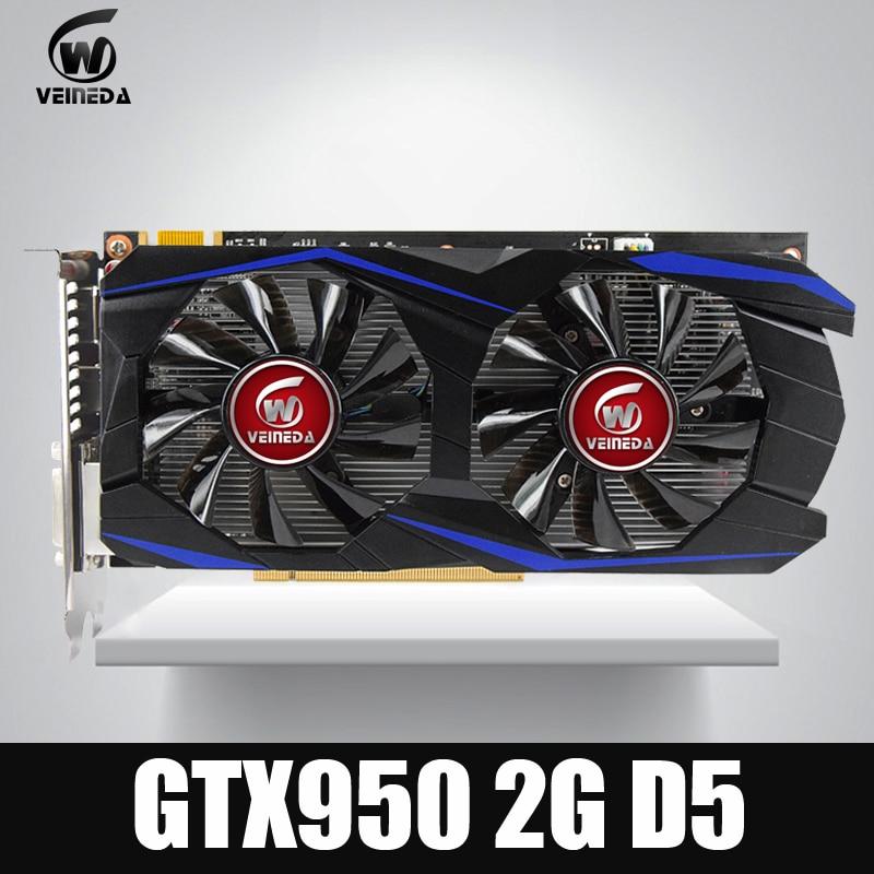 Tarjeta de vídeo VEINEDA GTX950 2 GB 128Bit GDDR5 tarjeta de gráficos nVIDIA Geforece juegos
