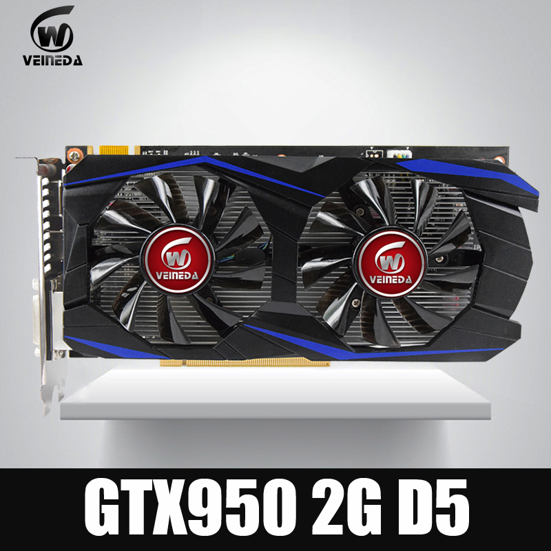 Video card VEINEDA GTX950 2GB 128Bit GDDR5 Graphics card for nVIDIA Geforece Games original desktop gpu graphics card veineda r7 350 2gb gddr5 128bit independent game video card r7 350 for ati radeon gaming