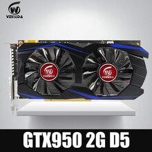 Video kartı VEINEDA GTX950 2 GB 128Bit için GDDR5 Grafik kartı nVIDIA Geforece Oyunları