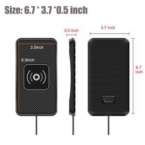 Image 3 - Supporto Del Supporto Del Telefono professionale Qi Wireless Caricabatteria Da Auto Veloce Non Slip Pad Zerbino Per Il Iphone XS MAX XR