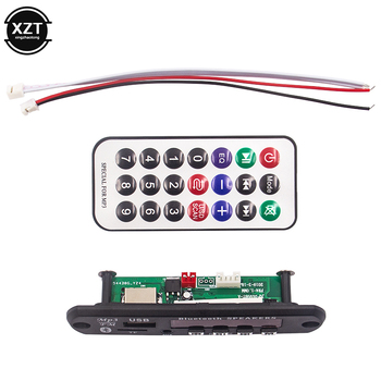 5V 12V Bluetooth MP3 Decoder Board MP3 Player Car Kit FM Radio TF USB 3.5 Mm WMA AUX Audio Receiver FLAC/APE For Car accessory image