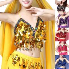 685c7922d9 Rainbow Sexy Mermaid Body Chain Tassel Sequin Bralet Beach Mirror Harness  Crop Top Festival Tanks Top