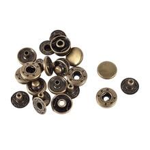 Модная металлическая отделка Poppers защелкивающиеся застежки пресс кнопки шпильки 11,5 мм 6 комплектов