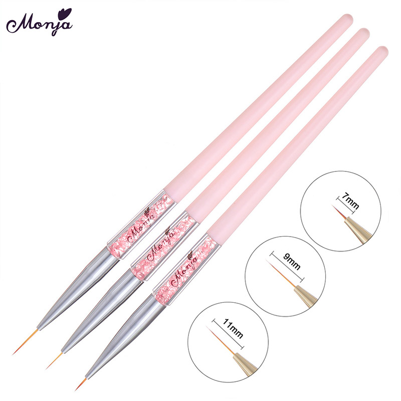 Hot Professional Drawing Pen Stripes Manicure Tools Liner Brush Nail Art Grid Painting 3D Nail Brush Lines in Nail Brushes from Beauty Health