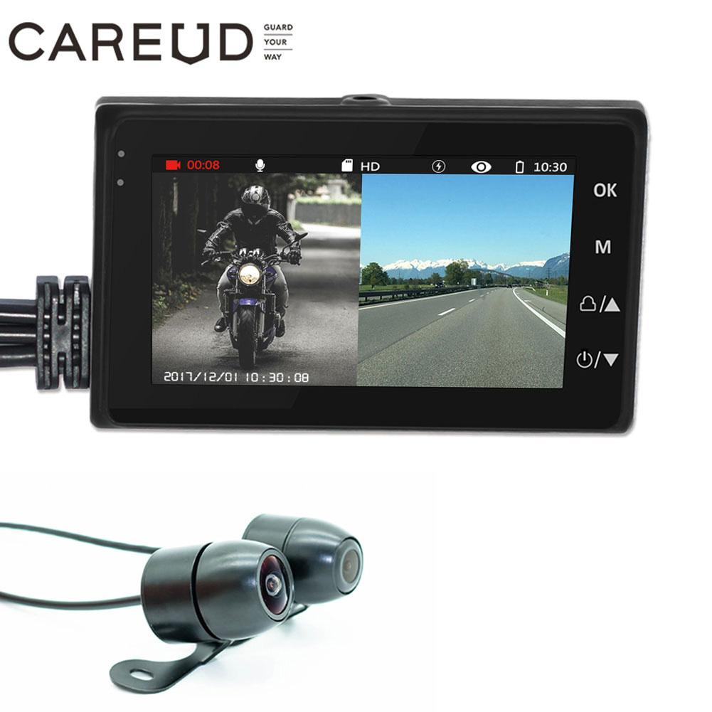 Dash Cam voiture 720 P pouces HD voiture caméra enregistreur de conduite étanche moto caméra DVR 3.0 pouces HD affichage moteur électronique