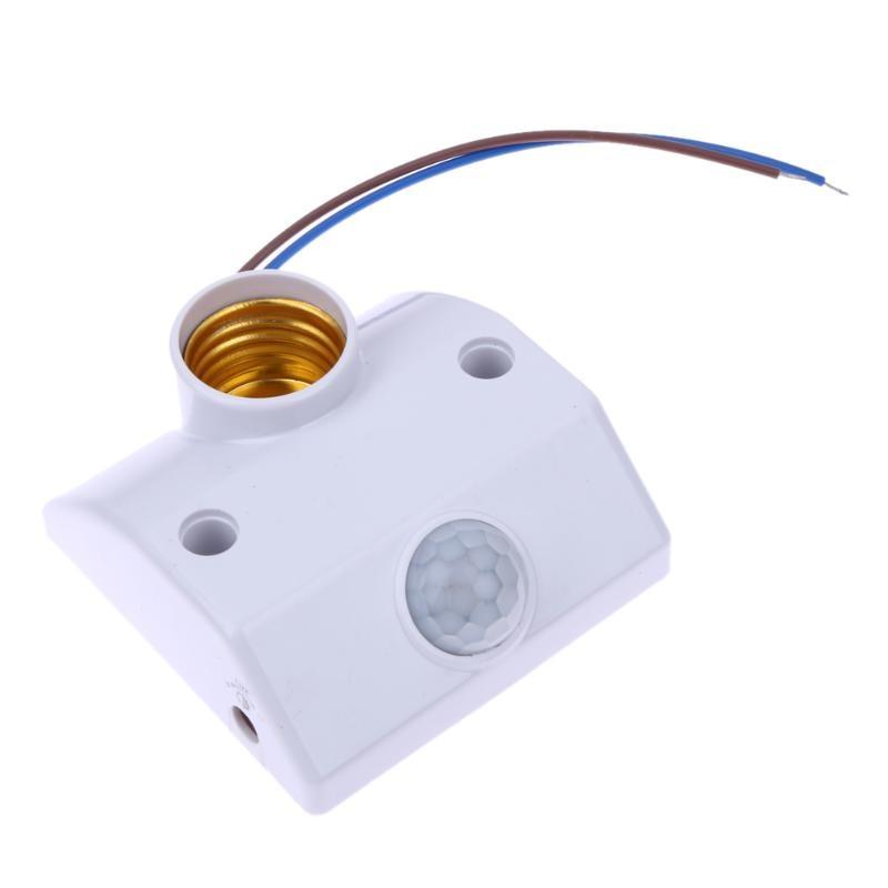 E27 AC 220v 50/60HZ 5LUX Motion Sensing Switch Infrared Motion Sensor Automatic Light Lamp Holder Switch White