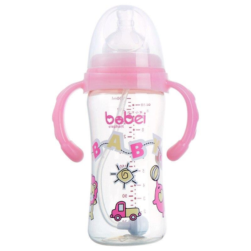 Bambey Малый как Новорожденный ребенок PPSU Кормление бутылки ширина Калибр принести ручки 300 мл большая чаша обороны Flatulence