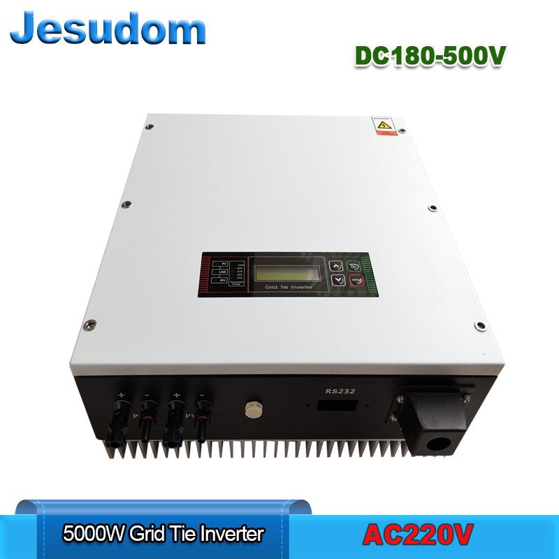 PV Grid Tie Inverter 5000W 5KW PV Connected Grid Inverter with AC230 220V Output Pure sine