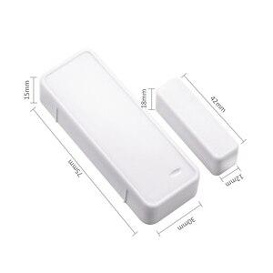 Image 3 - 1/3/5/10 pcs 433 MHz twee weg Magnetische Sensor Draadloze Deur Window Open Close detector Contact Alarm Systeem Voor GSM Home Security