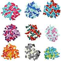100g Mosaic Tile Glitter Irregular Art Glass Mixed Color DIY Decoration Children's Intellectual Art Toy Children Puzzle Craft