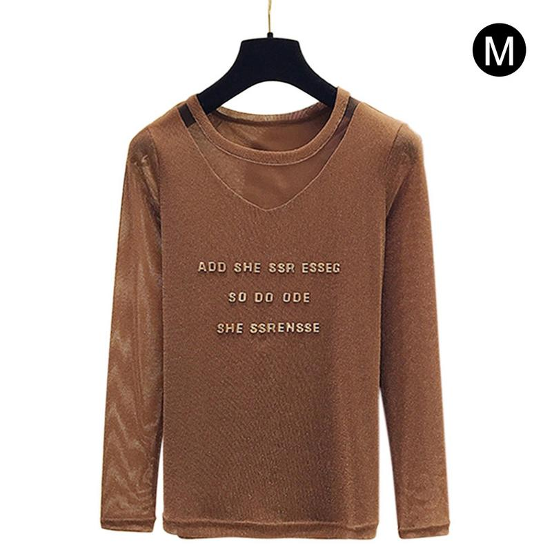 Cotton Mesh Tunic Three-dimensional Letter Elegant Neckline Top Summer T-shirt For Women Black Pink Brown Fashion Cool Style New