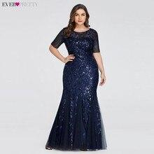 Вечерние платья с аппликациями Ever Pretty, длинное кружевное платье-русалка большого размера с пайетками, платья разных цветов для вечеринок в стиле Саудовской Аравии, лето-осень