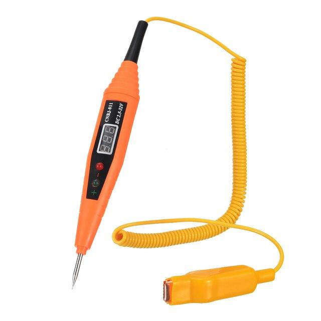 Cyfrowy długopis testowy cil wielofunkcyjny cyfrowy Tester napięcia długopis testowy 2.5 32V do sprawdzania bezpieczników obwodów