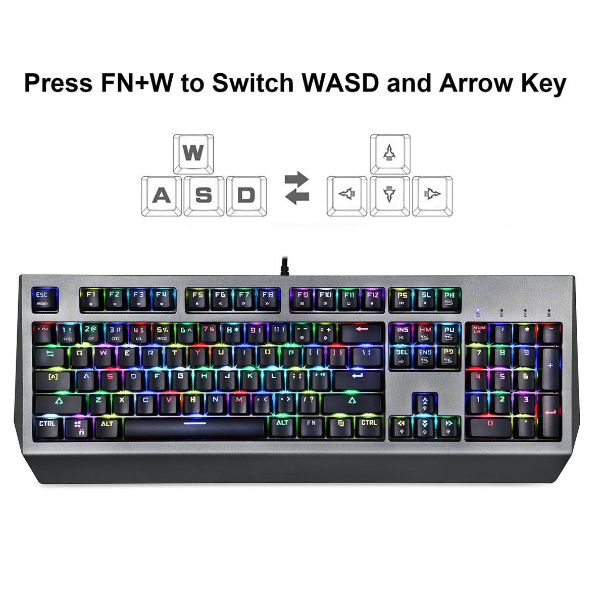 V30 3500 DPI 4 niveaux couleur rvb LED lumineux souris de jeu optique Combos clavier pour PC Gamer USB clavier souris rétro-éclairé - 2