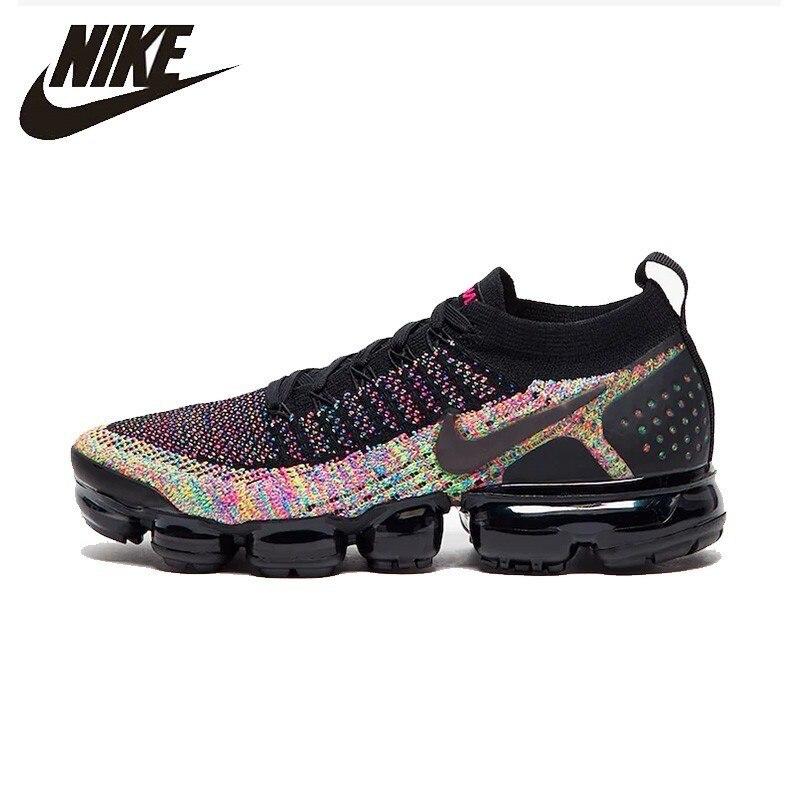 énorme réduction 7c79d e453e € 61.68 75% de réduction Nike Air Vapormax Flyknite tricot femmes  chaussures de course nouveauté coussin d'air respirant baskets #942843  015-in ...