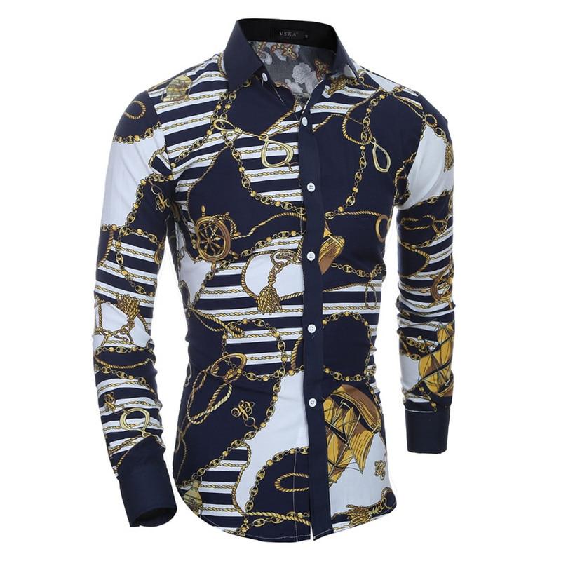 2018 Männer Langarm-shirt Plaid Männlichen Hohe Qualität Tops Shirt Mode Herren Kleid Shirts Dünne Hawaiian Großen Größe Xxl Top Wassermelonen