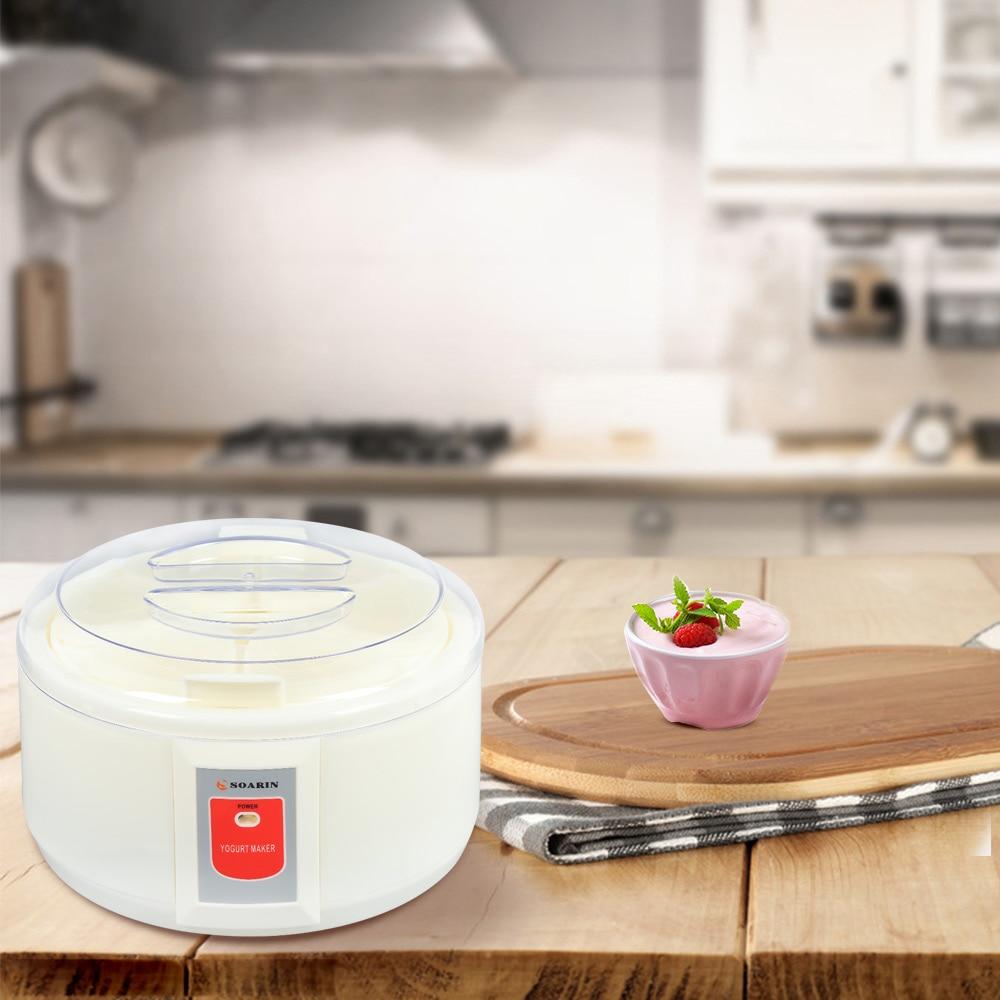 Home Electric Full-Automatic Multi-Function Yogurt Maker Fashionable Kitchen Appliance Food Processor Microcomputer Control