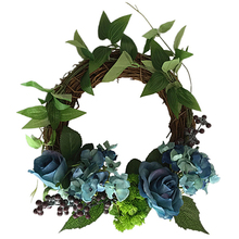 Wedding Wreath Faux Rose Artificial European-Style Simulation Garland Holiday Ornaments Shooting Props