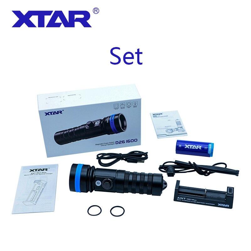 New XTAR D26 diving flashlight CREE XHP35 HI D4 1600 lumen beam distance 432 meter