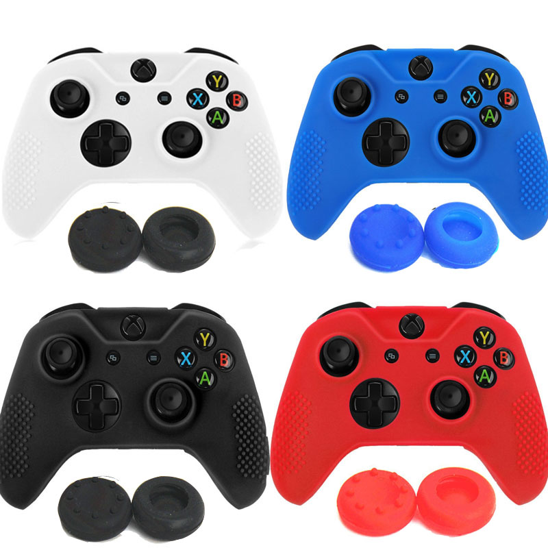 Gamepad case Soft Silicone Rubber Protective Skin Case Cover Free Grip Caps For Microsoft Xbox one