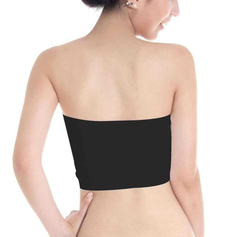 Lente Zomer Ondergoed Moet-hebben Strapless Boob Tube Top Koreaanse Versie Meisje Grote Maat Comfortabele Tube Top Dieptepunt