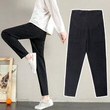 Новинка хлопок женские Рабочие леггинсы для мамы регулируемый высокий эластичный для беременных Длинные брюки для беременных зимние штаны