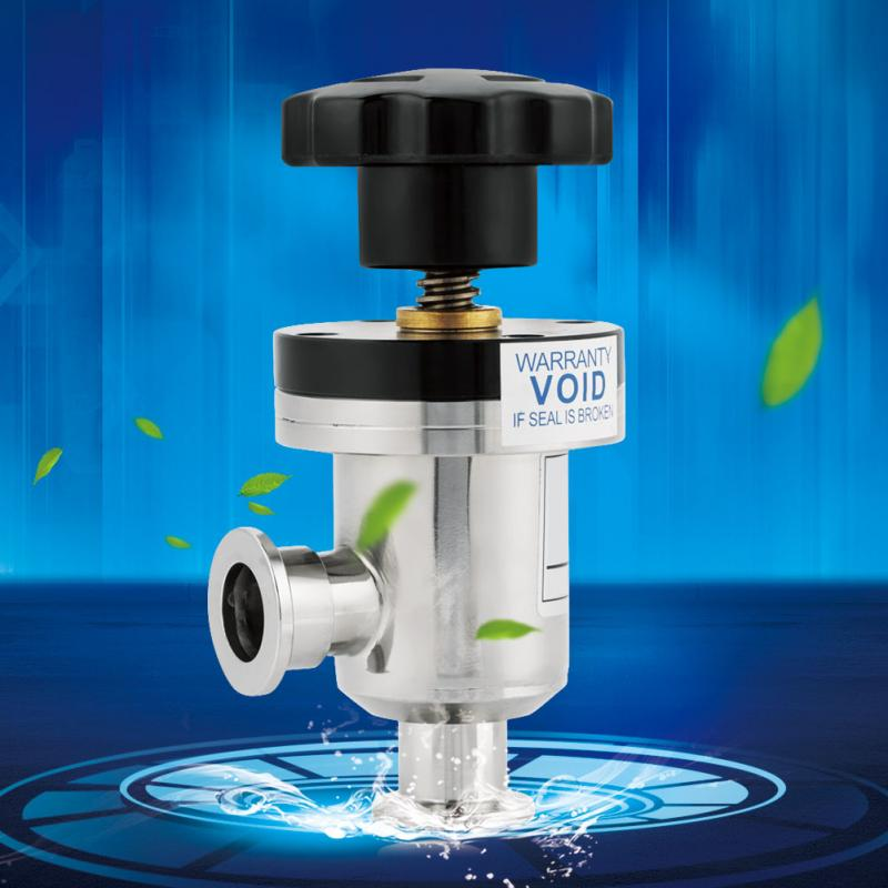 KF25 Bellow Isolation Valve 304 Stainless Steel High Vacuum Isolation Valve Manual Right Angle Bellow Isolation Valve Kleppen цена и фото