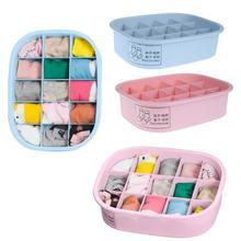 hot deal buy 15 grid plastic underwear bra organizer storage box 2 colors drawer closet organizers boxes for underwear scarf socks organizer
