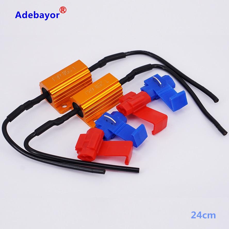 6PCS/set 25W 6ohm Load Resistor 12V Resistance For Car LED Flash Indicator Controller CANBUS Problem FREE SHIPPING Adebayor