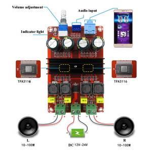Image 3 - TDA3116D2 Digital Audio Power Amp 100W x2 2.0 Stereo Class D HIFI amplifier DC 12V 24V XH M190 D3 007