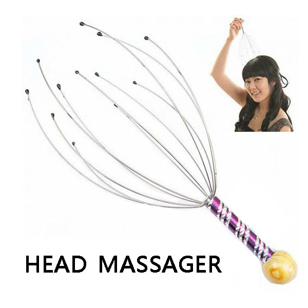 Metal Head Massager Head Neck Scalp Massages Stress Tension Relief Healthy Tool DC88