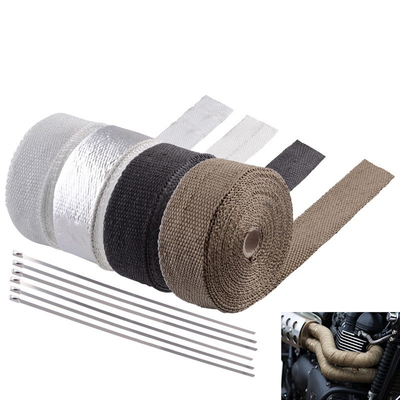 ESPEEDER 5M/10M/15M Heat Exhaust Thermo Wrap Resistant Downpipe Heat Shield Resistant Wrap For Motorcycle Car Accessories